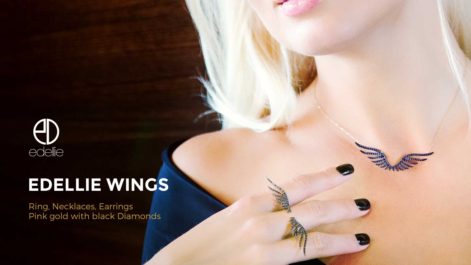 edellie jewellery store - wings ring, necklace and earring